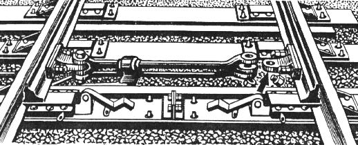 Разъединение стрелочных остряков и подвижных сердечников крестовин с тягами